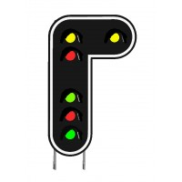 Signaux-Cible 6 feux de signalisation en modélisme ferroviaire HO