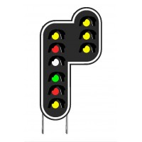 Cible 9 feux de signalisation en modélisme ferroviaire HO