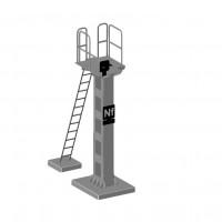 Mat de signaux lourd SNCF normal pour le modélisme en laiton