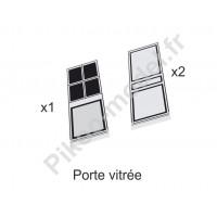 Portes vitrées et pleines pour le modelisme ferroviaire HO