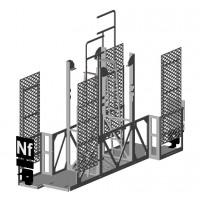 Décor-Nacelle de signalisation double HO en modélisme ferroviaire